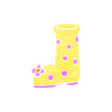 Retro cartoon wellington boot Stock Image