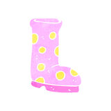 Retro cartoon wellington boot Royalty Free Stock Photos