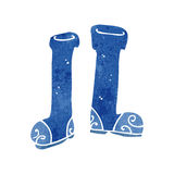 Retro cartoon wellington boot Royalty Free Stock Images