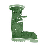 Retro cartoon wellington boot Stock Photo
