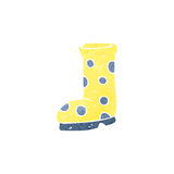 Retro cartoon wellington boot Royalty Free Stock Photography
