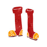 Retro cartoon wellington boots Stock Image