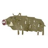retro cartoon wild boar Royalty Free Stock Photo