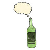 retro cartoon wine bottle Stock Photo