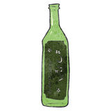 retro cartoon wine bottle Stock Photography