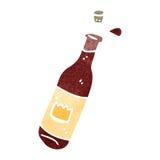 Retro cartoon wine bottle Stock Photo