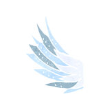 retro cartoon wing symbol Royalty Free Stock Images