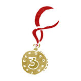 Retro cartoon winners medal Stock Photography