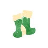 Retro cartoon winter socks Royalty Free Stock Images