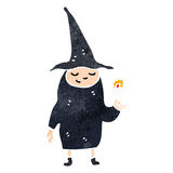 Retro cartoon witch Stock Photos
