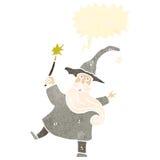 Retro cartoon wizard Royalty Free Stock Photo