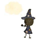 Retro cartoon wizard Stock Photo