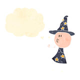 Retro cartoon wizard Stock Images