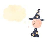 Retro cartoon wizard Stock Images