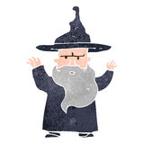 Retro cartoon wizard Royalty Free Stock Photography