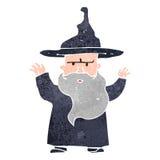 Retro cartoon wizard Royalty Free Stock Photography