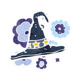 Retro cartoon wizard hat Royalty Free Stock Photo