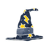 Retro cartoon wizard hat Stock Photography