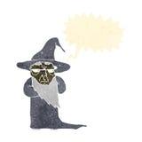 Retro cartoon wizard with speech bubble Royalty Free Stock Photo