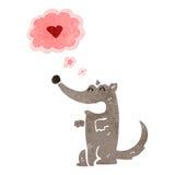 retro cartoon wolf in love Royalty Free Stock Photo