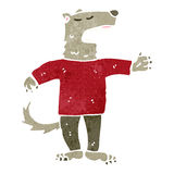 Retro cartoon wolf in man's clothing Stock Image