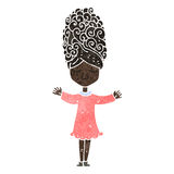 retro cartoon woman with big hair Royalty Free Stock Photos