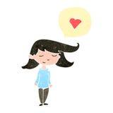 Retro cartoon woman in love Stock Images
