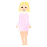 Retro cartoon woman in night dress Royalty Free Stock Photos