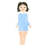 Retro cartoon woman in night dress Stock Photography