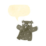 Retro cartoon wombat with speech bubble Stock Images