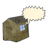 Retro cartoon wood shed Royalty Free Stock Photos