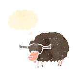 Retro cartoon yak Stock Images