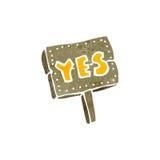 Retro cartoon yes symbol Royalty Free Stock Photo