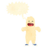 Retro cartoon yeti monster Royalty Free Stock Photography