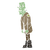 Retro cartoon zombie Stock Photo
