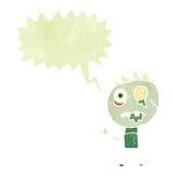 retro cartoon zombie with speech bubble Stock Image