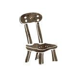 Retro cartoonj old chair Stock Image