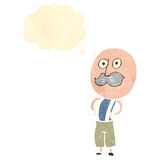Retro cartoonold mustache man Stock Photos