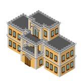 Retro casa isometrica Immagine Stock