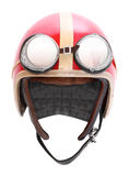 Retro casco con gli occhiali di protezione. Immagine Stock