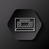 Retro casette icon Stock Photography