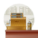 Retro cash register Royalty Free Stock Images