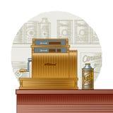 Retro cash register Royalty Free Stock Images