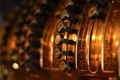 Retro cassetta delle lettere del metallo Fotografia Stock