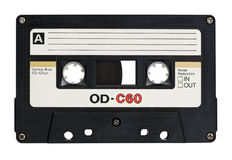 Retro cassette. Isolated on white with clipping path royalty free stock image