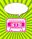 Retro cassette flyer Stock Photography