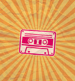 Retro cassette flyer 02 Royalty Free Stock Photo