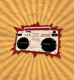 Retro cassette flyer 03. Retro style cassette music party flyer Royalty Free Stock Images