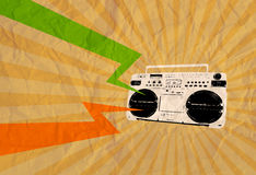 Retro cassette flyer 04 Stock Photo
