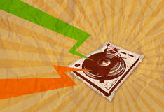 Retro cassette flyer 05 Royalty Free Stock Photo